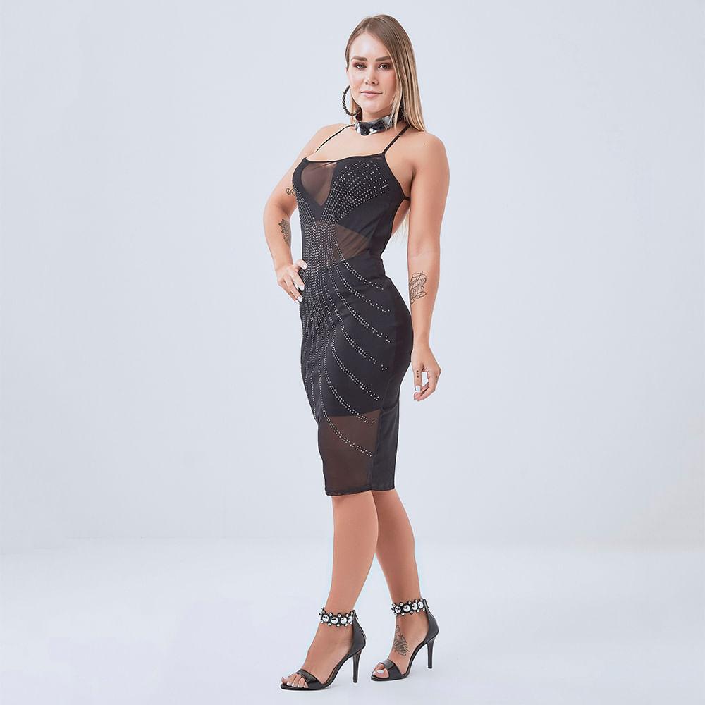 Vestido-Labellamafia-Warrior-Black-Lux---P