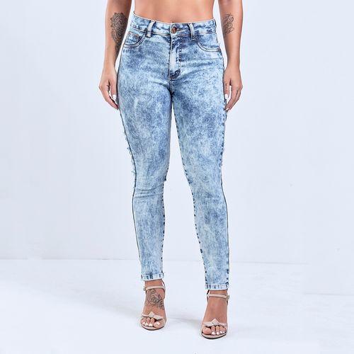 3019ecf9d0 Calça Jeans Feminina Labellamaifa Stripes Destroyed