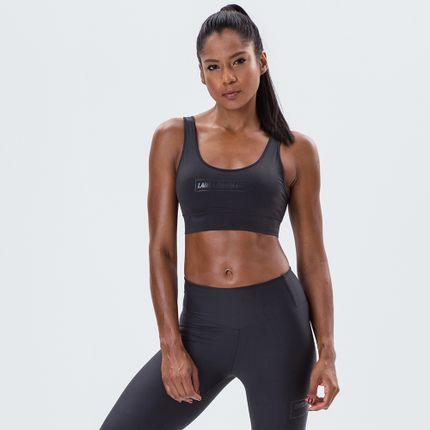 Top-Feminino-Essentials-Labellamafia-Sports-Black-