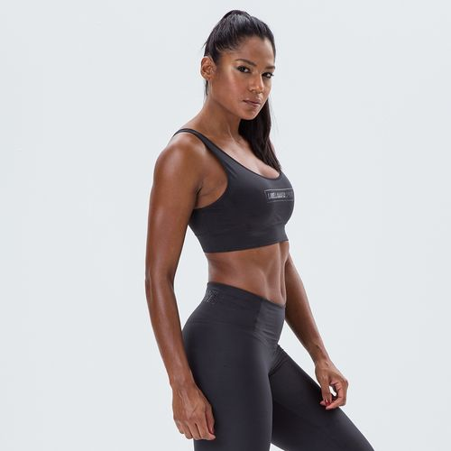 Top-Feminino-Essentials-Labellamafia-Sports-Black
