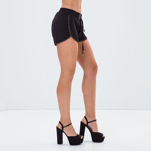 Shorts-Feminino-Black---Gold---P