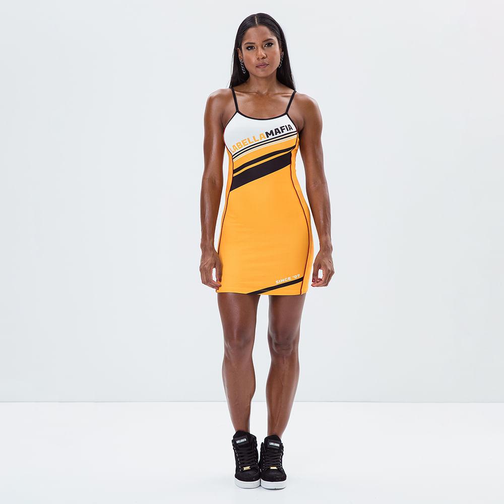 Vestido-Logomania-Yellow