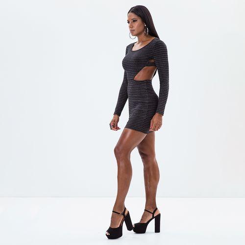 Vestido-Metallic-Bandage