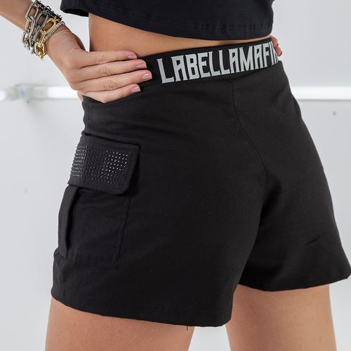SHORT-BLACK-LABELLAMAFIA-BLACK---P