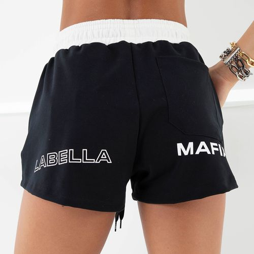 SHORT-NONSTOP-LABELLAMAFIA-BLACK---P